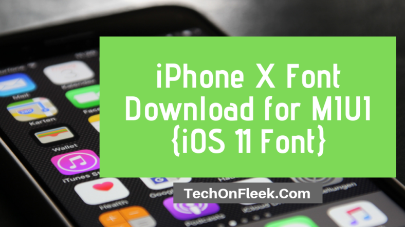 download iphone x font